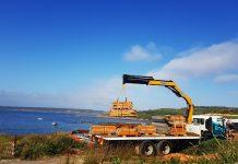 Hiab crane truck hire